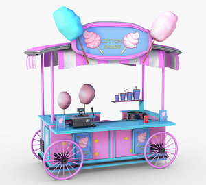 cotton candy cart model