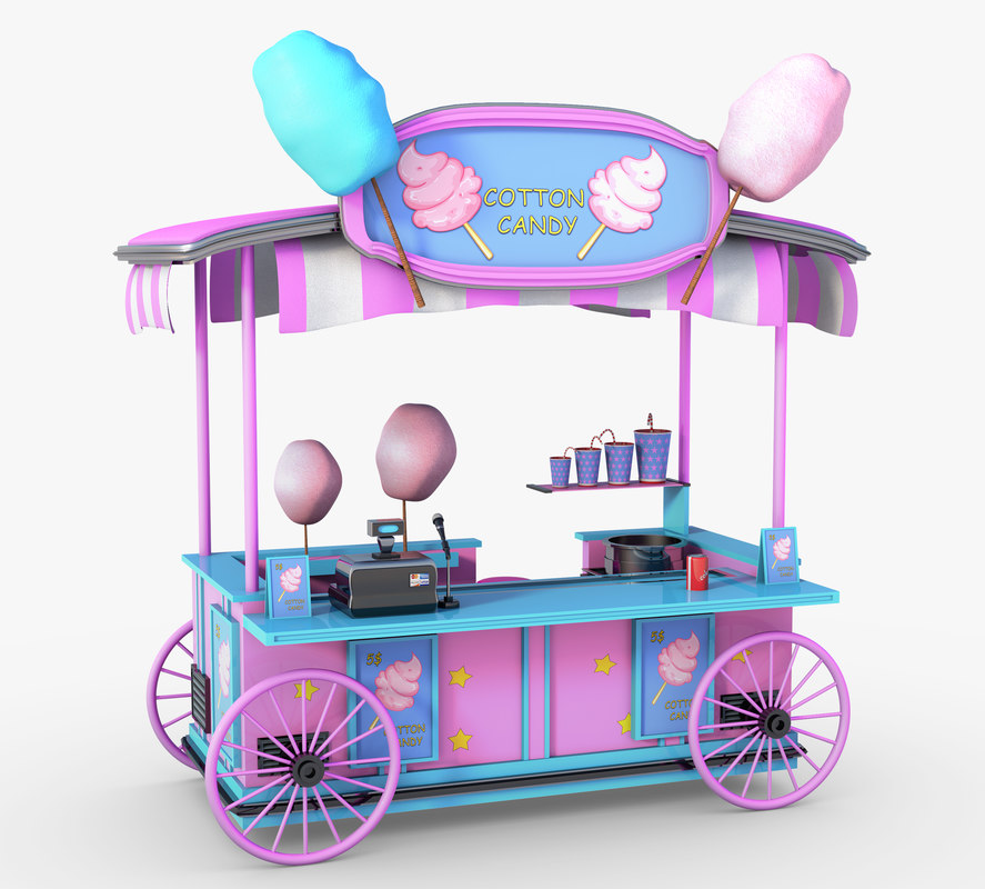 cotton candy cart model