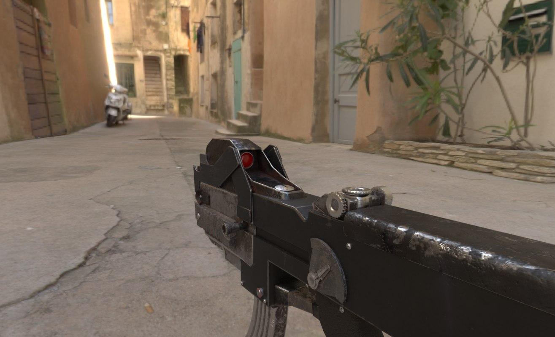 3D machine gun model
