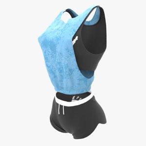 3D sport costume model