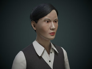 3D japanese office lady