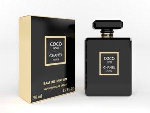 3D chanel coco noir model