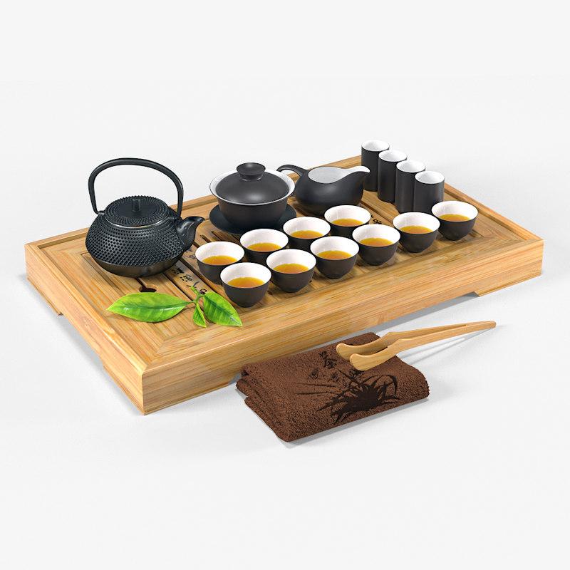 tea ceremony set 3D model