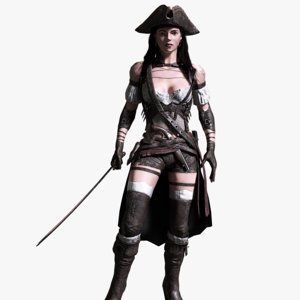 pirate female 3D model