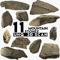 3D 12 mountain rocks pbr model