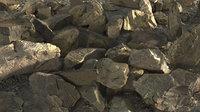 3D 12 mountain rocks pbr model