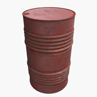 oil barrel old 3D model