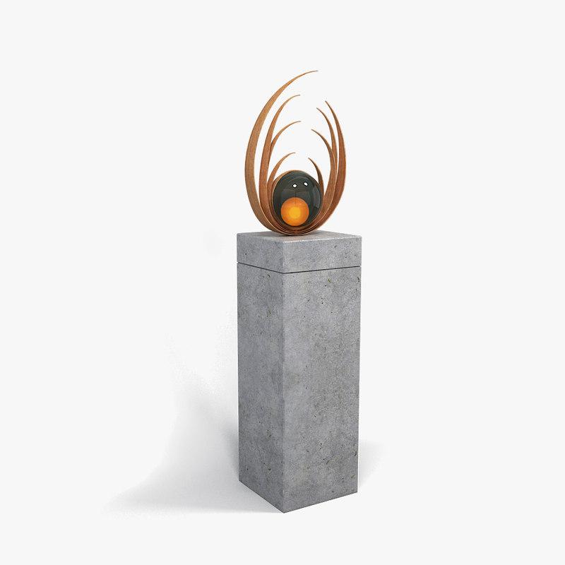 3D model fecundity sculpture