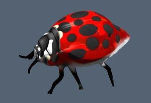 3D ladybug model