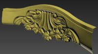 carved scroll 3D
