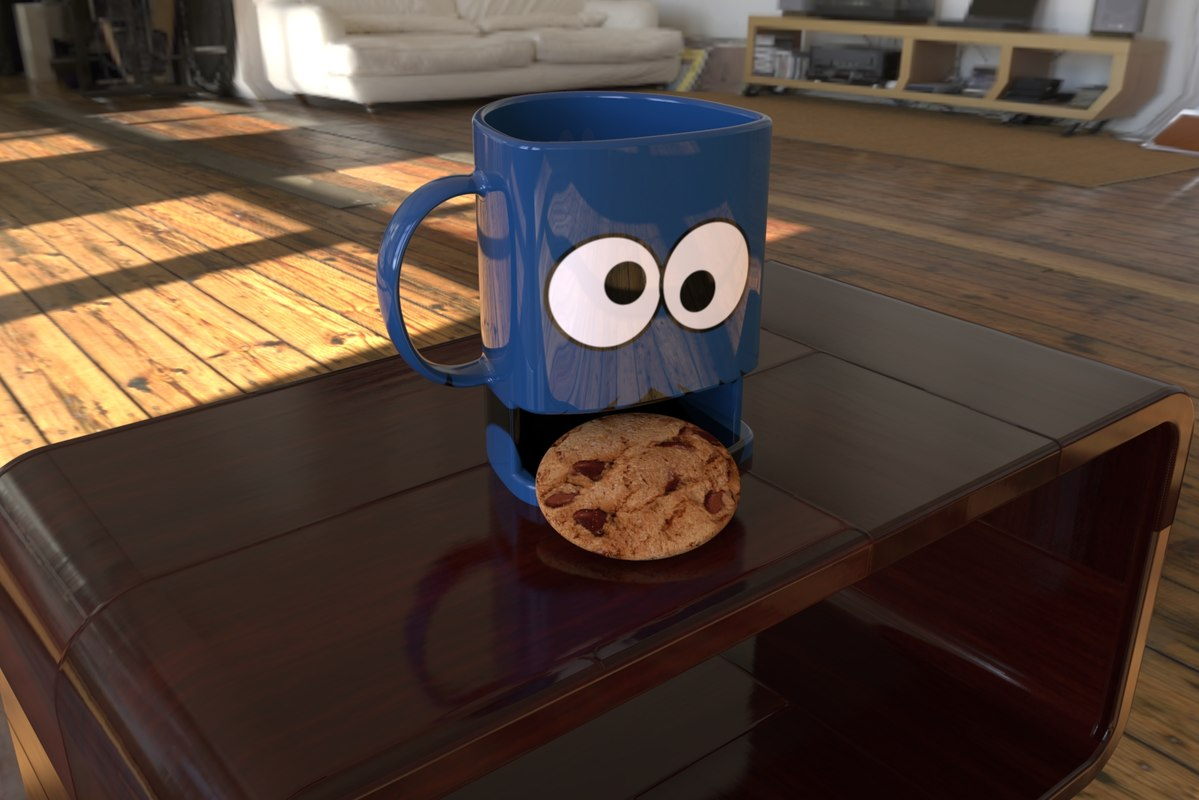 3D cookie mug