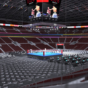 3D model boxing stadium