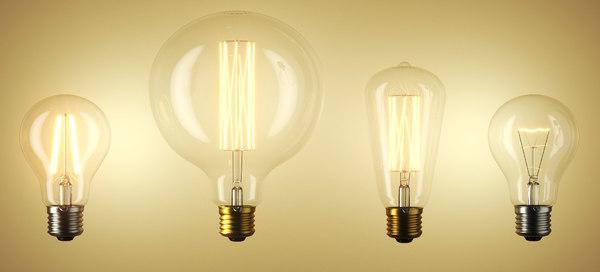 3D bulb led filament model