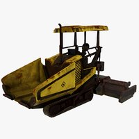 3D model asphalt paver