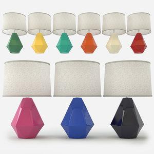 3D robert abbey delta table lamp