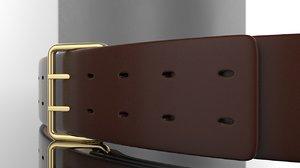 3D leather belt model