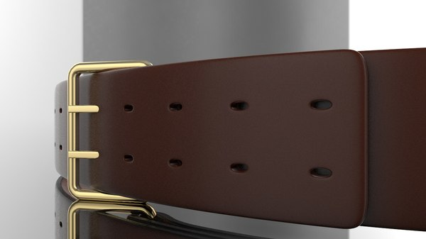 3D leather belt model