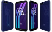 huawei y6 2018 blue 3D model