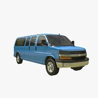 chevy express bus 3D