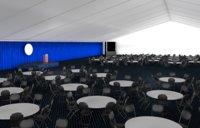 3D model event tent