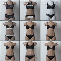 lingerie pack 3D model