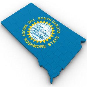 political south dakota 3D model
