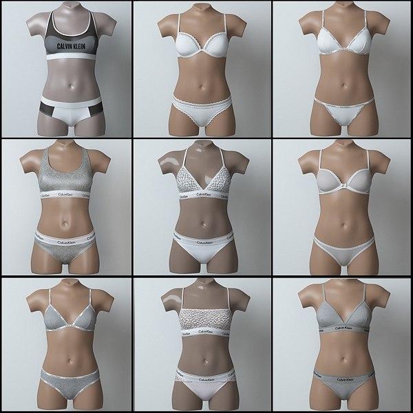 3D lingerie pack 2