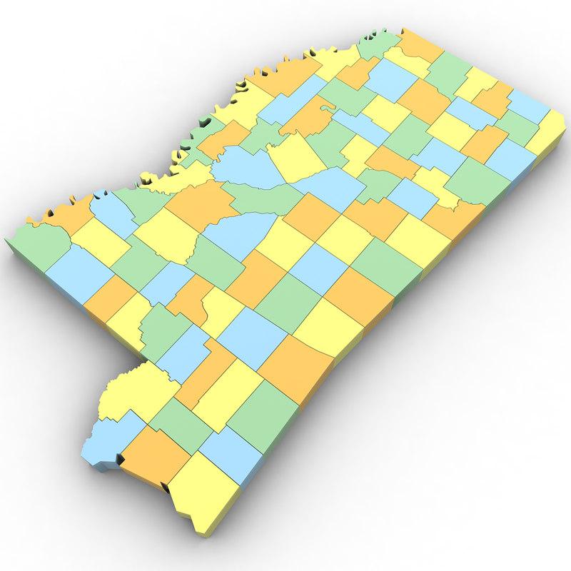 Political Mississippi 3d Turbosquid 1302752