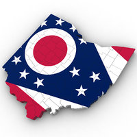 political ohio 3D model