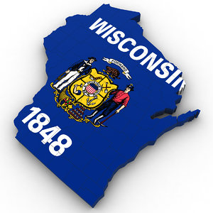 political wisconsin 3D model
