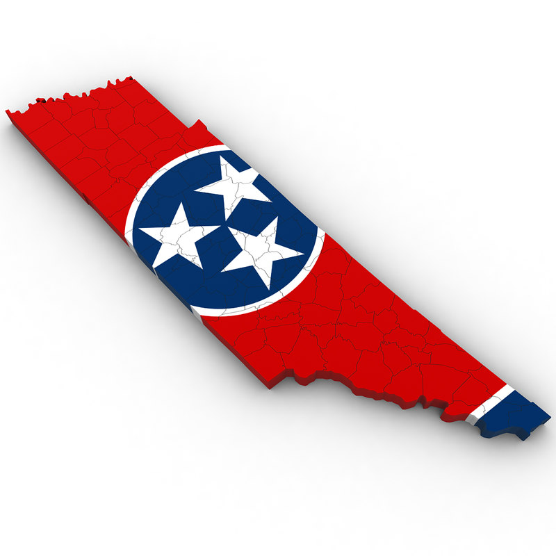 3D political tennessee model