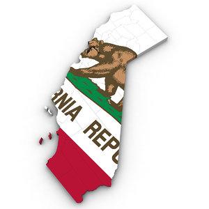 political california 3D model