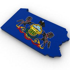 3D political pennsylvania
