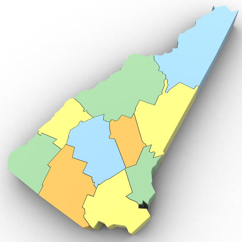Political New Hampshire 3d Model Turbosquid 1302788