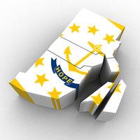 3D political rhode island model