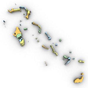 3D model bahamas political