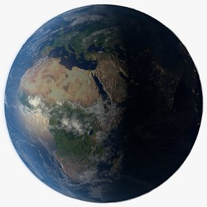 photorealistic planet earth 16k 3D model