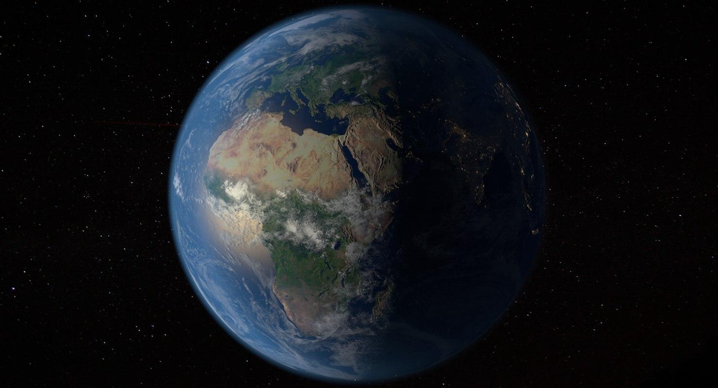 photorealistic planet earth 16k 3D model