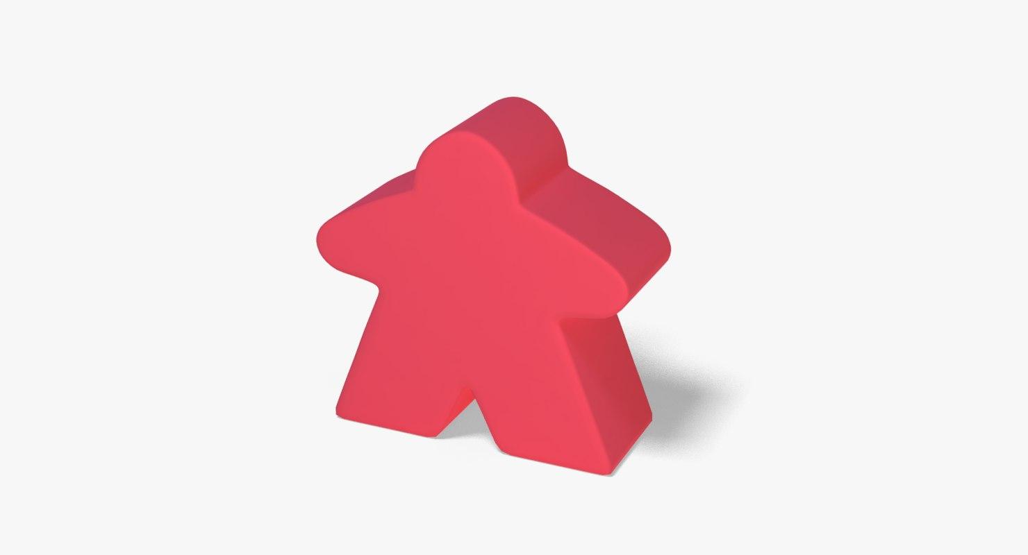 meeple 3D model