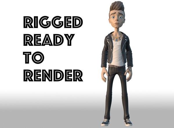 cool dude 3D model