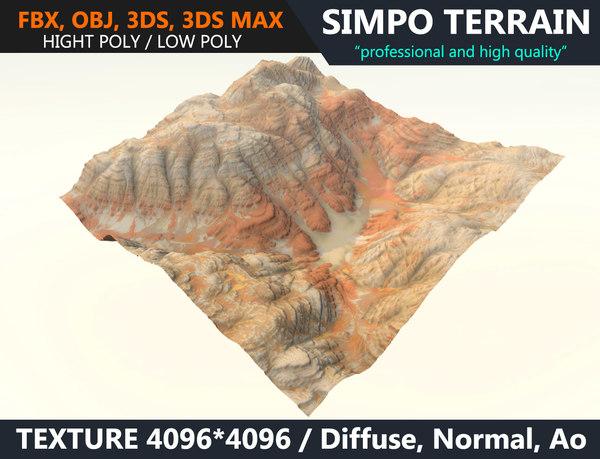 3D realistic terrain polys games