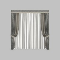 curtains 1 modeled 3D