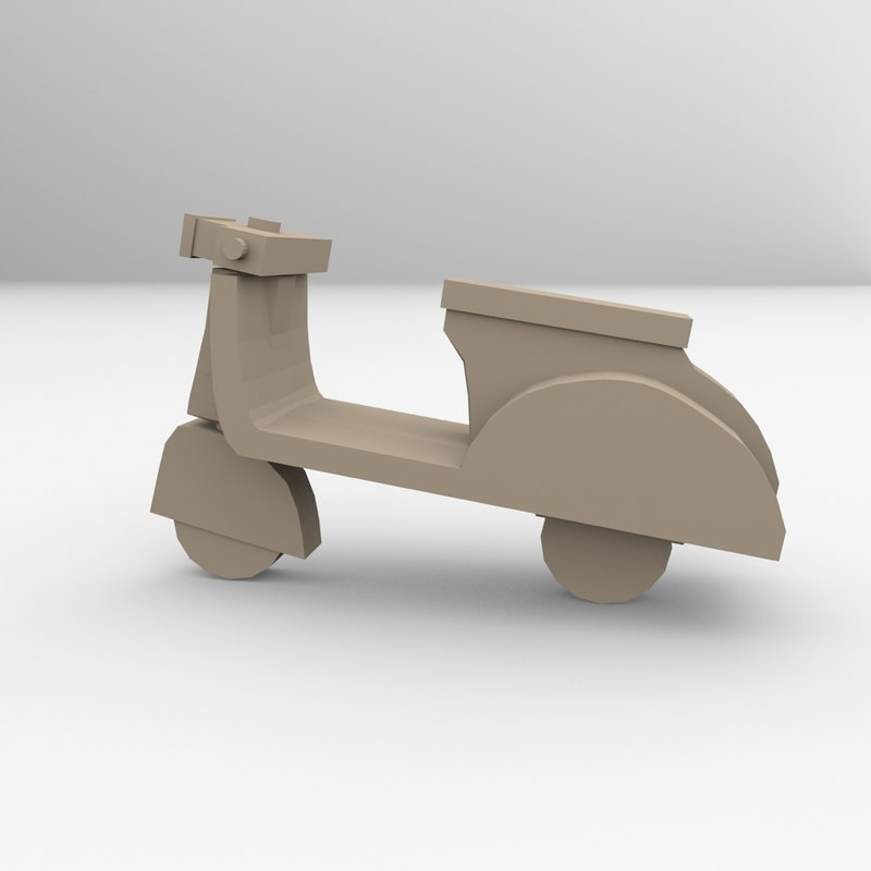 printable scooter 3D model