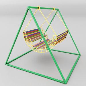 childrens swing symmetry 3D model