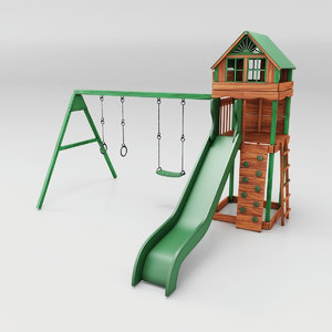 3D model cheerful slide