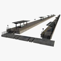 3D railroad platforms rail