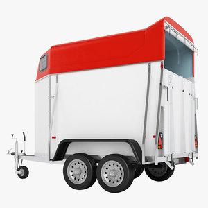 3D model niewiadow horse trailer