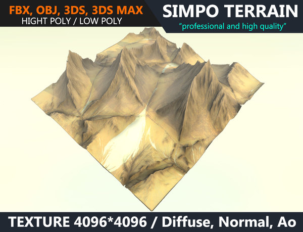 3D desert terrain