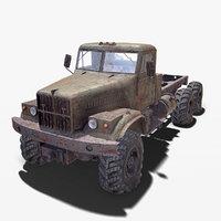 kraz 255 rusted 3D model
