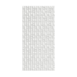 3D white wall panel modelled